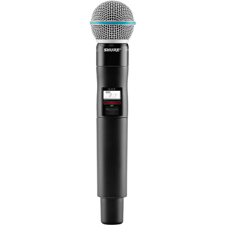 Shure QLXD2/Beta58A-J50 Handheld Transmitter with Beta58A Microphone - (572 - 636 MHz)