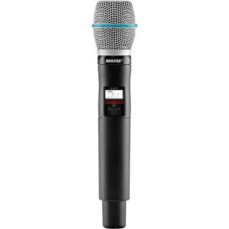 Shure QLXD2/Beta 87A-J50 Handheld Transmitter with Beta87A Microphone - (572 - 636 MHz)