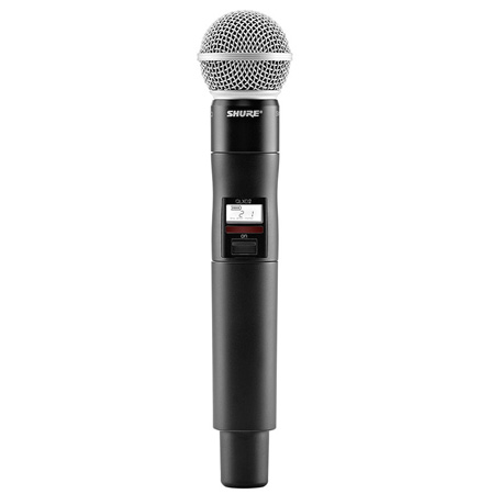 Shure QLXD2/SM58-J50 Handheld Transmitter with Beta58A Microphone - (572 - 636 MHz)