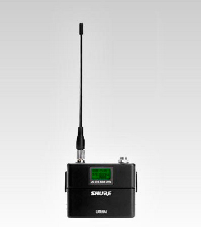 Shure UR1M Wireless Micro-Bodypack Transmitter - Threaded TA4F - L3 638-698 MHz