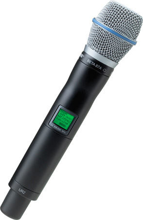 Shure UR2/BETA87A Handheld Transmitter with BETA87A Microphone - X1