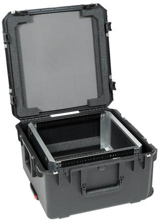 SKB 3I-22221210U iSeries Case with Removeable 10U Shallow Rack Cage TSA Locks Wheels