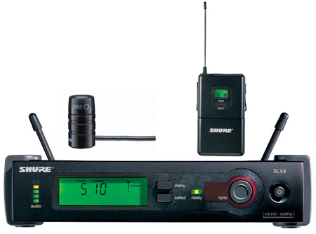 Shure SLX Wireless Bodypack System with WL185 Mic - J3 Freq Range B-Stock(refurbed 100% operational)