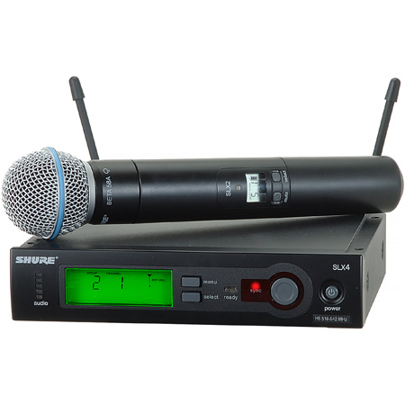 Shure SLX Wireless System With BETA58 Handheld Mic - H5 518-542Mhz