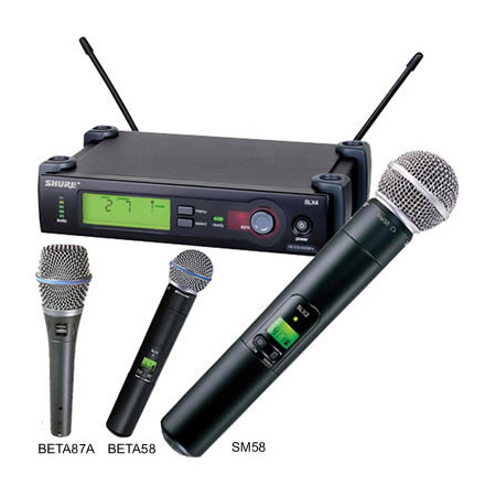 shure slx wireless system with beta58 handheld mic 638 662mhz. Black Bedroom Furniture Sets. Home Design Ideas