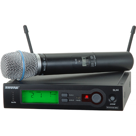 Shure SLX Wireless System With BETA87A Handheld Mic - H5 518-542Mhz