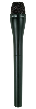 Shure SM63LB Dynamic Handheld ENG Microphone with Extended Handle - Black