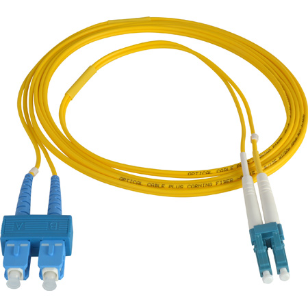 2-Meter 9u/125u Fiber Optic Patch Cable Singlemode Duplex LC to SC - Yellow