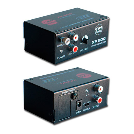 sm pro audio xp200 phono preamp convert turntable output to line level. Black Bedroom Furniture Sets. Home Design Ideas