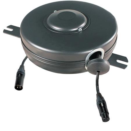 Stage Ninja XLR-21-S 19 Foot Retractable Female XLR Cable Reel - Black