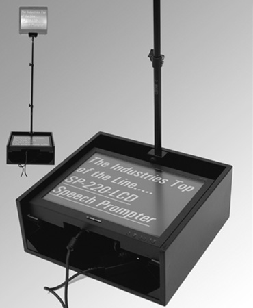 20in LCD Speechprompter with SVGA SVHS and Composite Inputs