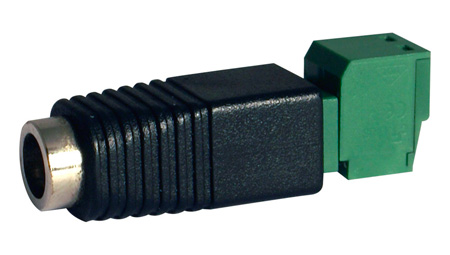 Speco DCPLGBLOKM DC Plug to Terminal Block - MALE (pack of 10)