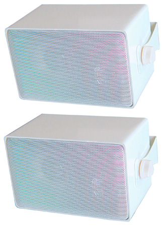 Speco DMS3PW 4in 3-Way Indoor/Outdoor All-Purpose Speaker - White (sold in pairs)