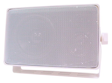 Speco DMS3TSW Weather Resistant 3 Way Speakers w/ Transformer White (Each)