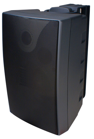 Speco SP6AWXT 6-Inch Outdoor Speaker Black  with Transformer (Pair)