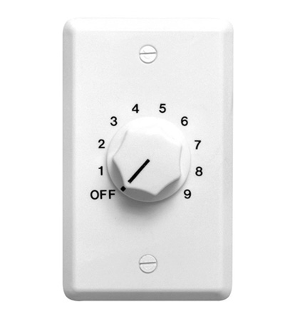 Speco WAT50W 50W 70/25 Volt Wall Plate Volume Control - White