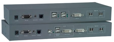 NTI ST-FOUSB2DARS-LC - USB Extender with DVI Video - Audio and RS232 via Fiber