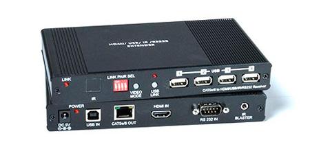 NTI ST-IPUSBH-R-1G HDMI USB KVM Over IP Extender w/ Audio RS232 - IR - Receiver