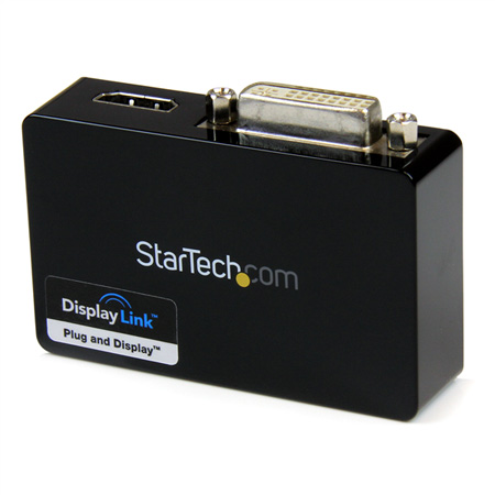 StarTech USB32HDDVII USB 3.0 to HDMI-DVI Dual Monitor Ext. Video Card Adapter