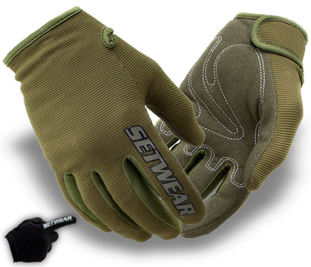 SetWear STH-06-008 Green Stealth Glove - Size S