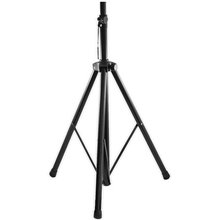 Connect Speaker Stand Steel Tripod Base 44-80in High Speaker Mount incl. Black