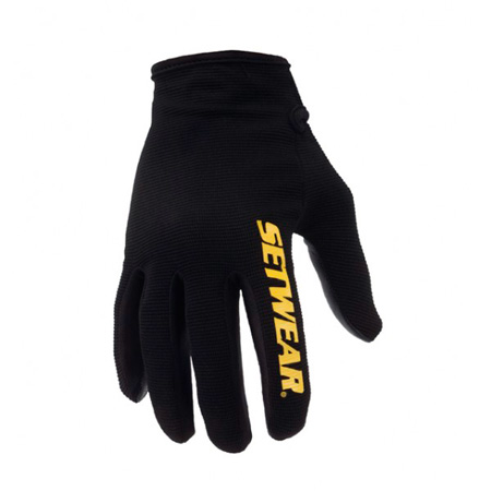 SetWear STP-05-008 Stealth Pro Black Leather Gloves Size: S