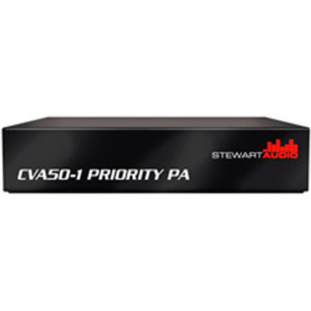 Stewart CVA50-1 Priority PA Mono Amplifier with 25V Input - 50W x 1 @70V B Stock