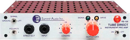 Summit Audio TD-100 Half-Rack Instruments Preamp And Direct Box