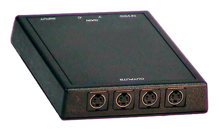 SVDA-1 1x4 S-Video Distribution Amplifier