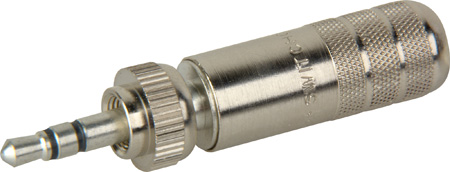 Switchcraft 35HDLNN 3.5mm Locking Stereo Plug - Nickel Handle Tin plug