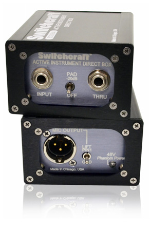 Switchcraft SC800 Active Instrument Direct Box - Phantom Powered