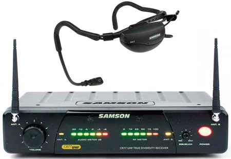 Samson AirLine 77 Vocal Fitness System (AH1-Qv/CR77) 644.125 MHz