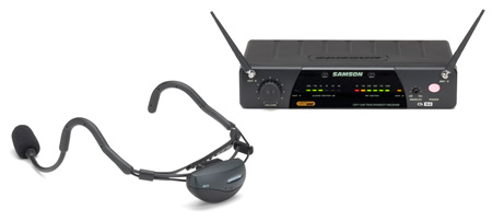 Samson AirLine 77 Wireless System Vocal Headset (AH1-Qv10e/CR77) 642.875 MHz
