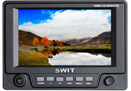 SWIT S-1051H 5 Inch 3G-SDI / HDMI Monitor with S-7004U Battery Mount for Sony BP-U60/30
