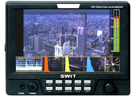SWIT S-1071C-Plus 7 Inch HDMI LCD Monitor with Gold-mount Battery Mount