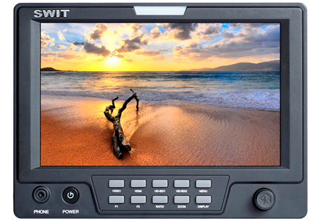 SWIT S-1071H 7 Inch 3G-SDI & HDMI LCD Monitor with S-7004J Battery Mount for JVC BN-V400