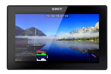 SWIT S-1073FU 7 Inch Full HD Waveform Optical Bonding LCD Monitor with Sony BP-U Bttery Plate