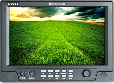 SWIT S-1090F 8.9-inch HDSDI & HDMI Waveform LCD Monitor with S-7004B Battery Mount for Panasonic VW-VBG6