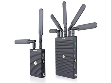 SWIT S-4914 TC/S-4914RS 700m 3GSDI/HDMI Wireless Transmission System: T w/ Canon BP-900 Series Plate & R w/ V-mount