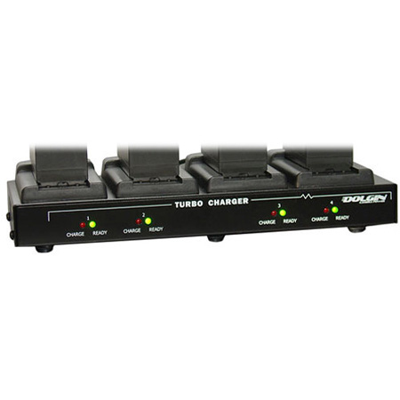 Dolgin Engineering TC40-SON-FM500H Four Position Simultaneous Battery Charger for Sony NP-FM500H Batteries
