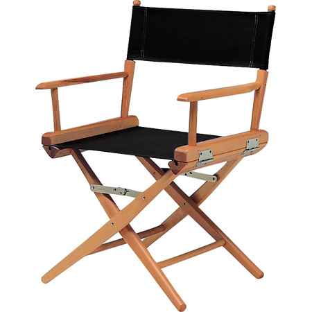Med Directors Chair - Natural Frame / Burgandy Canvas
