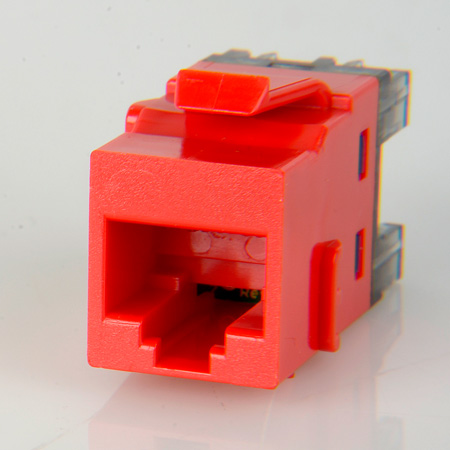 ADC-Commscope 2111475-7 T568A/T568B Category 6 RJ45 Jack Red