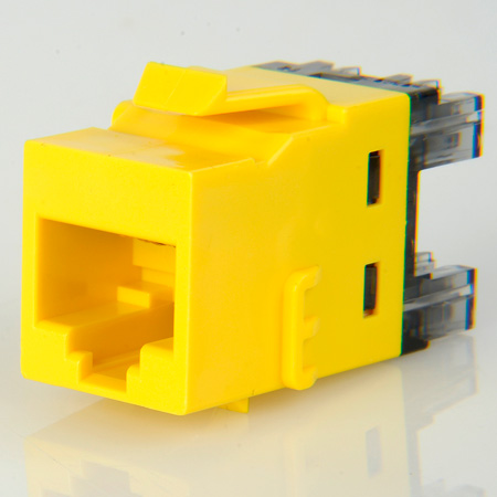ADC-Commscope 2111475-8 T568A/T568B Category 6 RJ45 Jack Yellow
