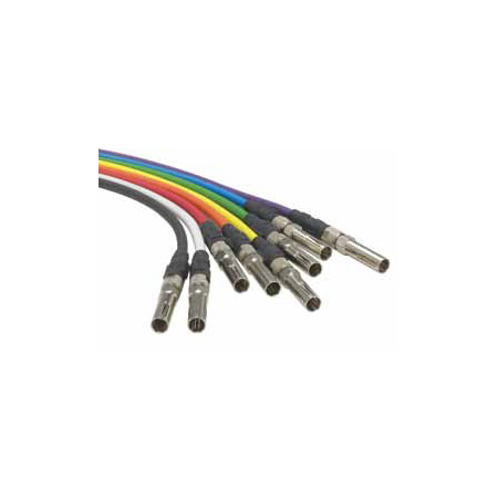 ADC-Commscope B3V-STM-B HD Video Patch Cord Midsize to BNC Blue - 3 Foot
