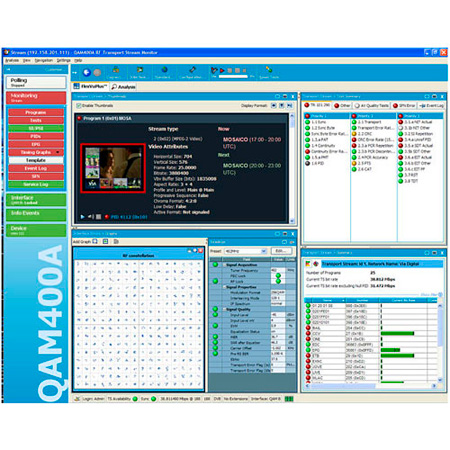 Tektronix QAM400A DTV Monitor for TS & RF Cable Network Monitoring
