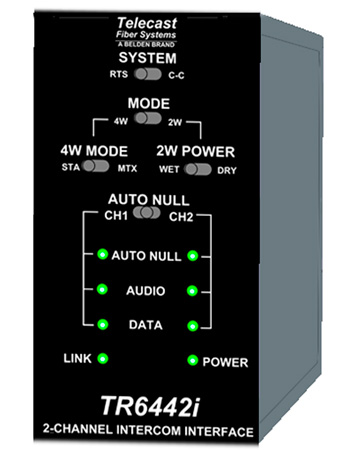 Telecast MTR6442i-15 Intercom Transceiver - Throwdown 1550nm