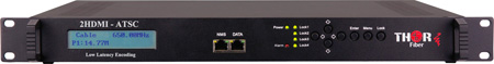 Thor Fiber H-2HDMI-ATSC-IPLL 2-Channel HDMI to ATSC Encoder Modulator with Low Latency & IPTV Streamer