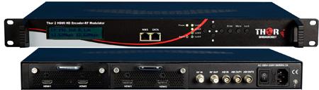 Thor Fiber H-2HDMI-DVBT-IP 2-Channel HDMI to DVB-T Encoder Modulator & IPTV Streamer