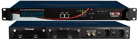 Thor Fiber H-4HD-EMH-AC3 HDMI Encoder with Dolby AC/3 & IPTV 4 Ch