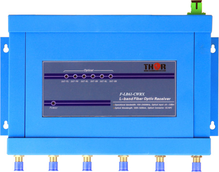 Thor F-LB61-CWRX CWDM Optical Receiver for 6 L-Band RF channels over single fiber for MDU